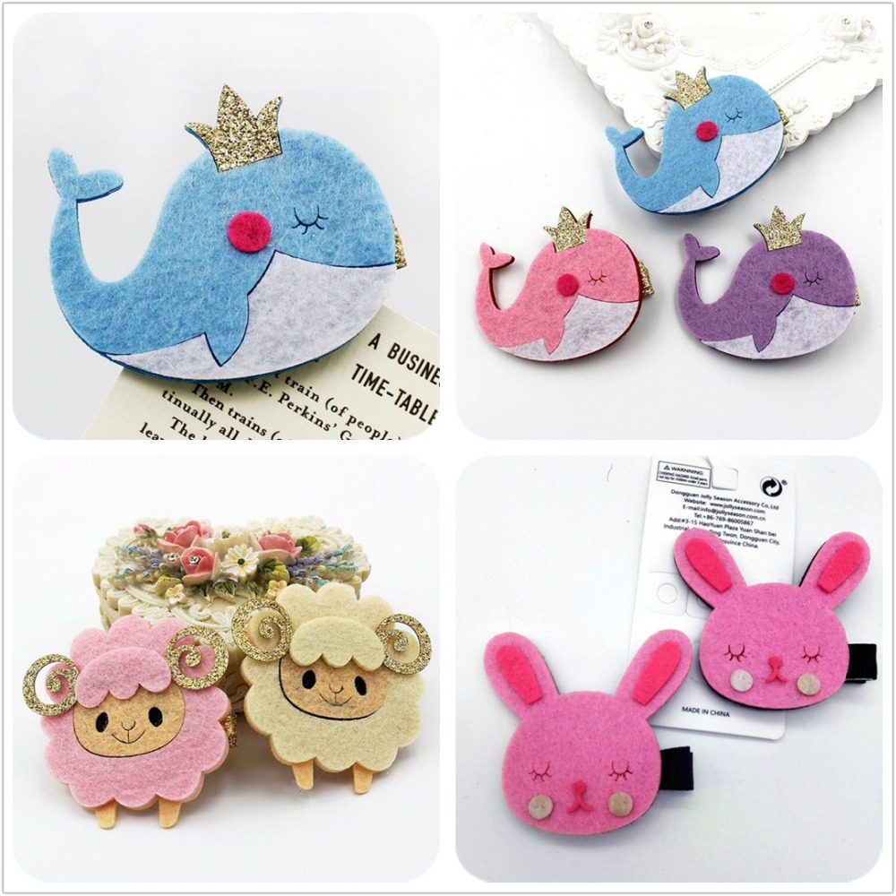2PCS New Baby dolphin Hairgrips Girls Hair Clips Cute lamb Hair Accessories Infant Headwear Hairpin Children rabbit Barrette J8 1 pcs fashion cute dimensional flowers baby hairpins girls hair accessories children headwear princess barrette kids hair clips