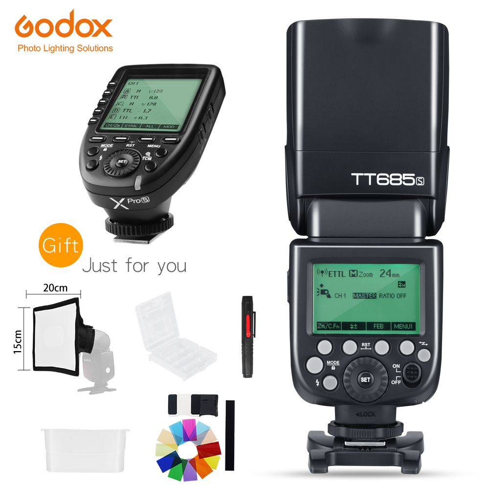 Godox TT685S HSS 1 8000S GN60 TTL Flash Speedlite with Xpro S TTL Wireless Transmitter Flash