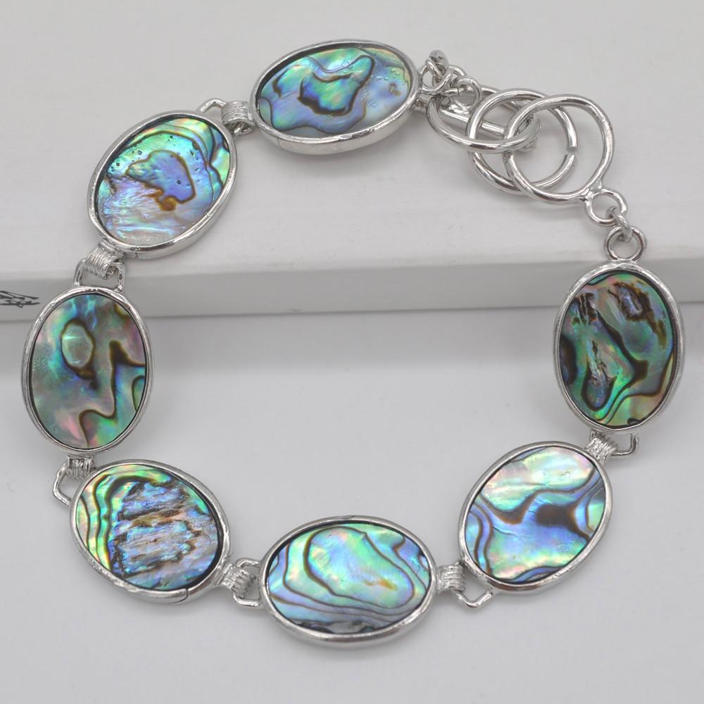 Nova Zelândia Abalone Shell Beads Pulseira 8