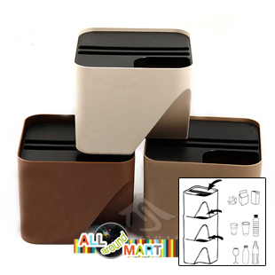 Small Size Stylish Home Kitchen Office Small Recycle Bin Can Garbage  Dustbin Classification Storage Organizer.