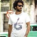 AK CLUB Brand T-shirt Hand Painting Rocket Printed Tshirt Cuba Libre Series 100% Cotton T Shirt Short Sleeve Men T-shirt 1600006