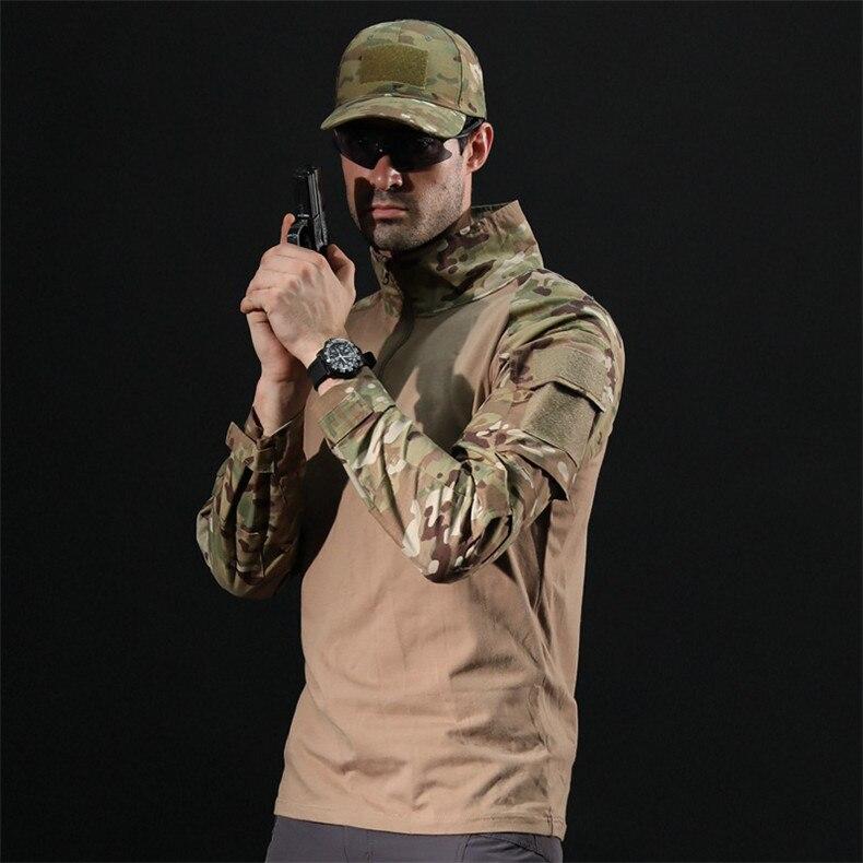 SJ-MAURIE camuflagem do exército caminhadas camisas t-camisa