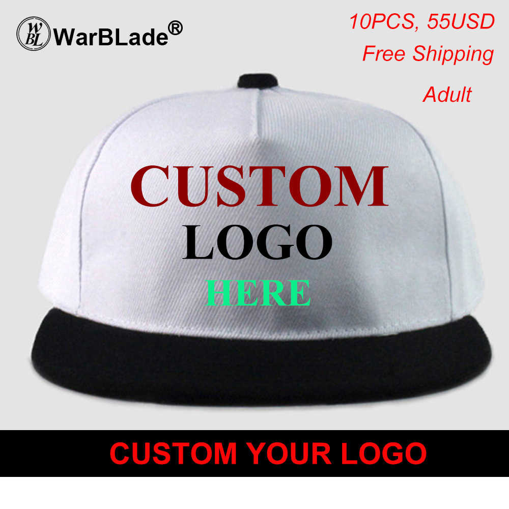 8c0fb247 High Quality DIY Your Own Cap Custom Logo Caps Women Men Snapback Blank  Customized Hats Dad Printed Cap Free Shipping WarBLade