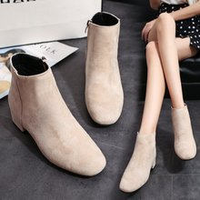 2019 new style with thick with simple suede women's shoes bo