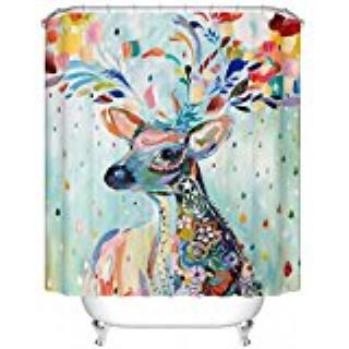 Color Deer Custom Shower Curtain Pattern Waterproof Fabric Shower Curtain For Bathroom 66*72inch