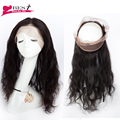 360 Lace Frontal Closure Indian Virgin Hair Body Wave 360 Lace Frontal Closure with Baby Hair Pre Plucked 360 Lace Band Frontal