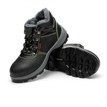 цены Winter Warm Safety Boots For Men Genuine Leather Work Safety Shoes Steel Toe Lace-up Puncture-proof Military Boots Size 35-46
