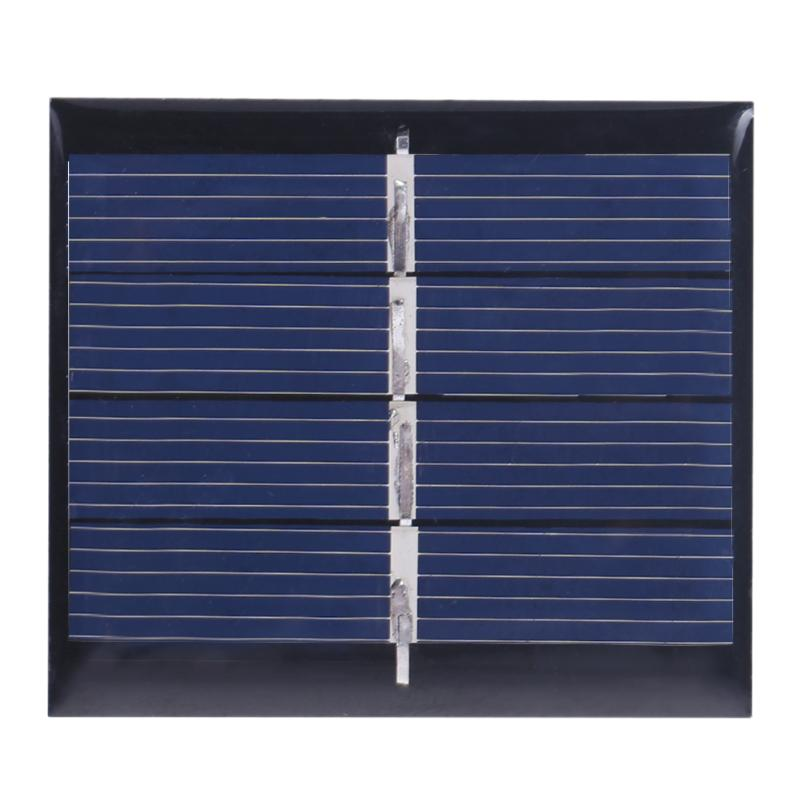 Alloyseed 2pcs DIY Solar Power Charger 0.36W 2V Polycrystalline Silicon Solar Panels