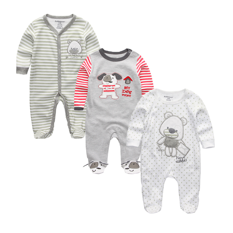 Summer 2017 Newborn Baby Girl Boy Clothes Baby Rompers ...