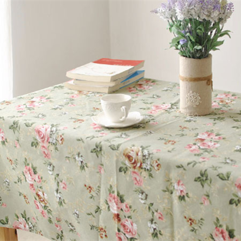 pastoral style christmas tablecloth cotton linen rectangle round table cloths wedding party table cloth cover wholesale