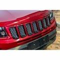 Wotefusi черная ABS Хромированная передняя решетка сетка вентиляционное отверстие отделка отверстий для Jeep Compass 2011 2012 2013 2014 2015 2016 [QPA340]