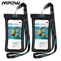 """Mpow Universal IPX8 Waterproof Case Bag Phone Pouch 6"""" Phone Bag Case For Iphone Xs X 8 7 7Plus 6S Samsung Galaxy S9 Phone Case"""