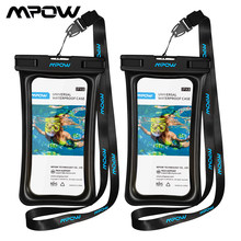 "Mpow IPX8 Universal Waterproof Case Bag Bolsa Telefone 6 ""Caso Saco Do Telefone Para O Iphone Xs X 8 7 7 além de 6 S Caixa Do Telefone Samsung Galaxy S9(China)"