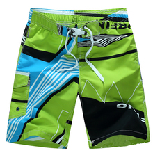 2016 New Arrive High Quality Men Beach Shorts Print Loose Plus Size 3XL Half Shorts Quick Dry Swim Surfing Beach Shorts