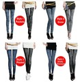 2014 Women Fashion leggings,8 styles faux denim jeans looks ladies' skinny leggings pencil pants slim elastic stretchy jegging