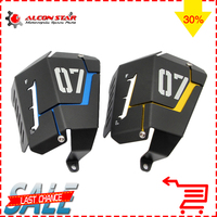 Alconstar Motorcycle Coolant Recovery Tank Shielding Guard Frame Cover Protector Case For Yamaha MT 07 MT07