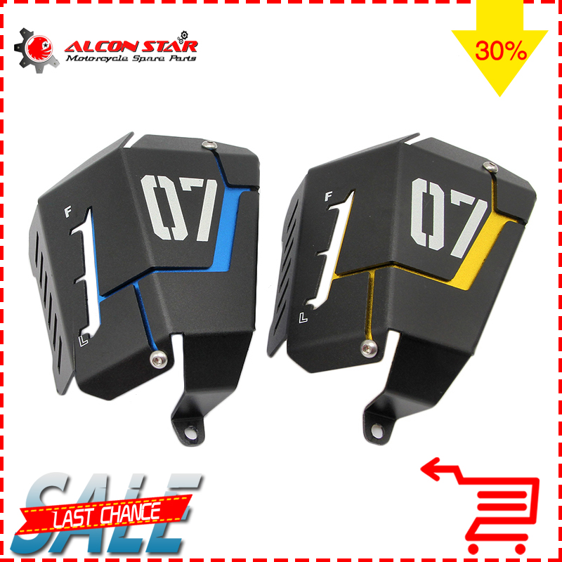 Alconstar- Motorcycle Coolant Recovery Tank Shielding Guard Frame Cover Protector Case For Yamaha MT-07 MT07 FZ07 2014 2015 for yamaha mt 07 mt 07 fz07 mt07 2014 2015 2016 accessories coolant recovery tank shielding cover high quality cnc aluminum