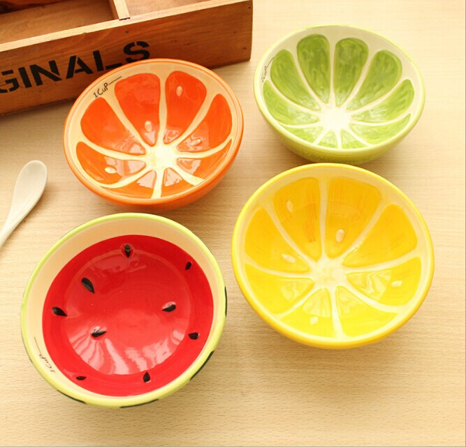 1PC Cute Bowl Lovely Hand Painted Fruit Bowl For Children ...  Cute
