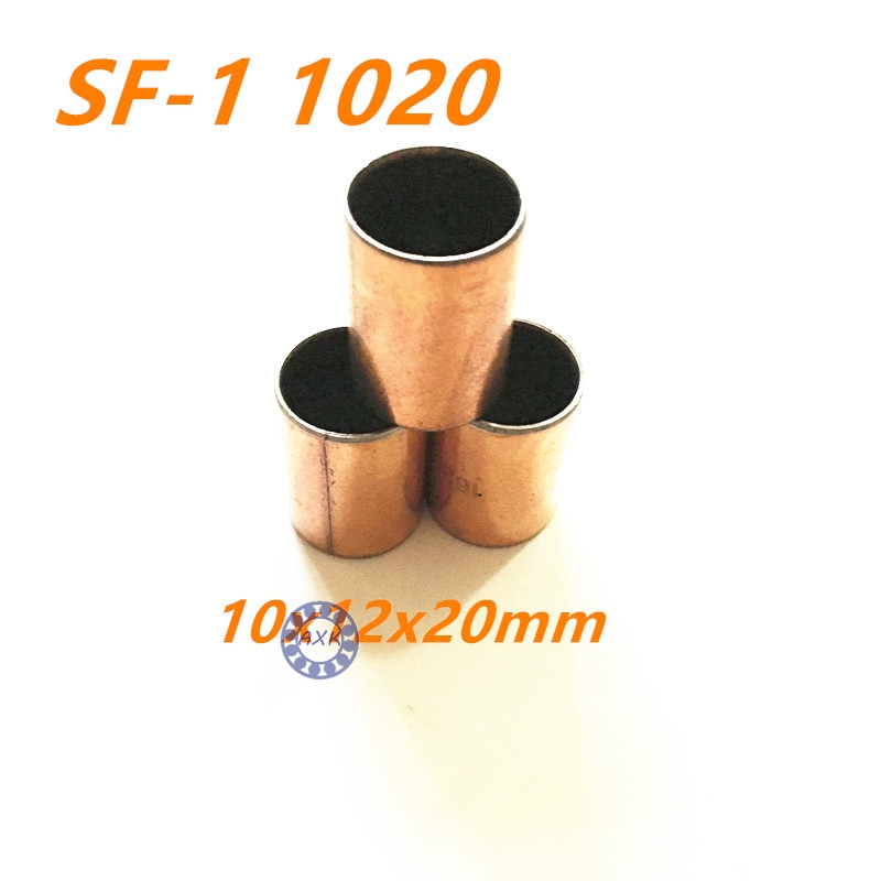 20Pcs   SF-1 1020 Self Lubricating Composite Bearing Bushing Sleeve 10x12x20mm 20pcs sf1 sf 1 0812 self lubricating composite bearing bushing sleeve 8 x 10 x 12mm free shipping high quality
