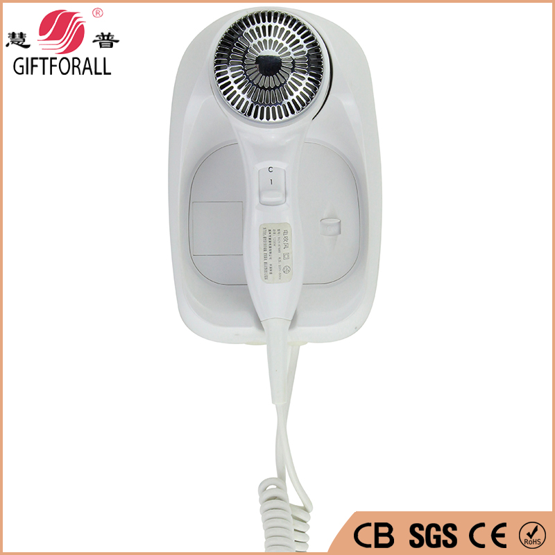 GIFTFORALL Hotel Bathroom Electric Hair Dryer 210-240V Plastic Hot/cold Air Dryer Wall Mounted Professional Styling RCY-67888
