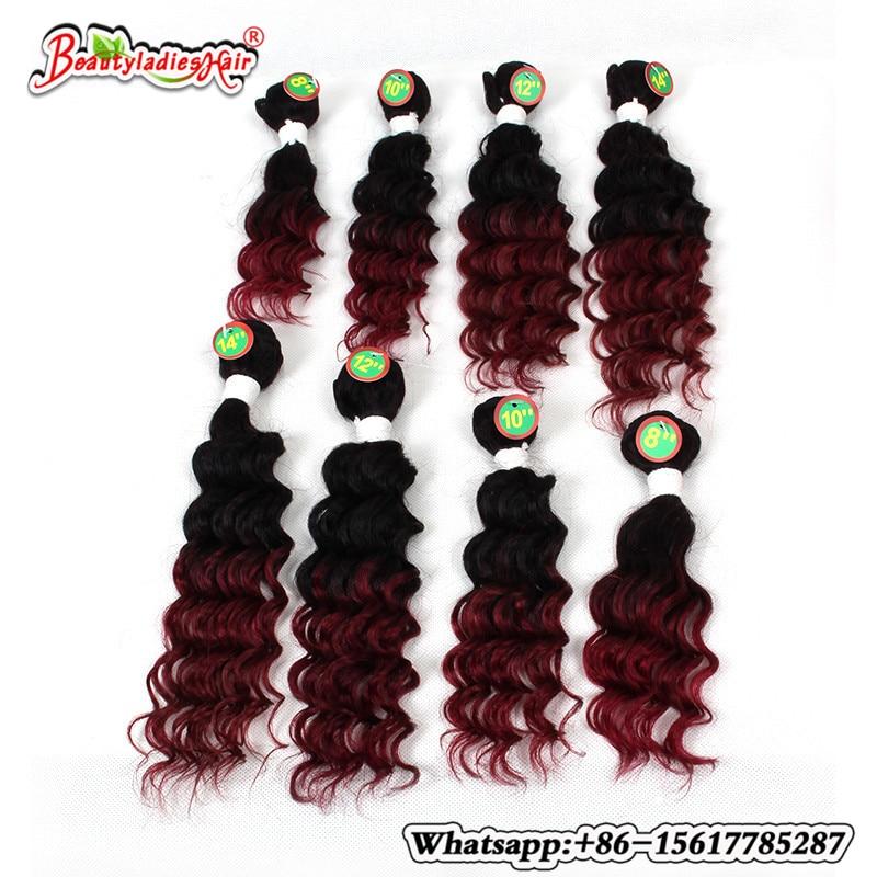 Βραζιλιάνικο σγουρά μαλλιά 8Bundles - Συνθετικά μαλλιά - Φωτογραφία 2
