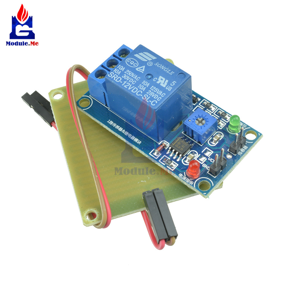 US $1 45 11% OFF|12V Raindrops Controller Module Rain Drop Sensor Power  Relay For Arduino Foliar Moisture M35 Monitor Weather Humidity Board-in
