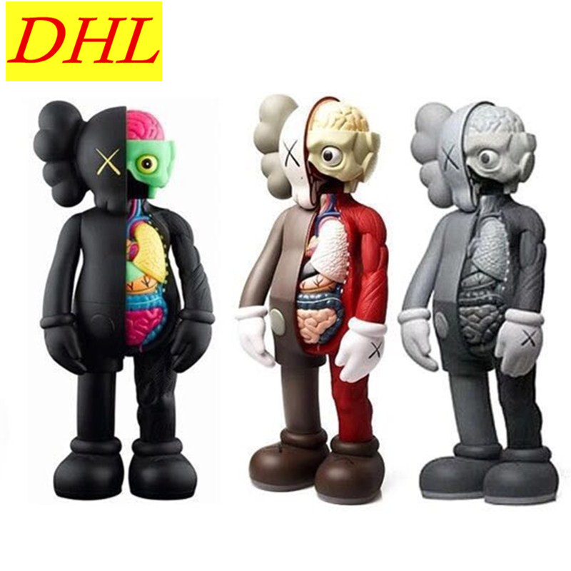 OriginalFake KAWS Dissected Companion Brian Street Art BFF 4FT Be@rBrick PVC Action Figure Collectible Model Medicom Toy L1941 new hot christmas gift 21inch 52cm bearbrick be rbrick fashion toy pvc action figure collectible model toy decoration