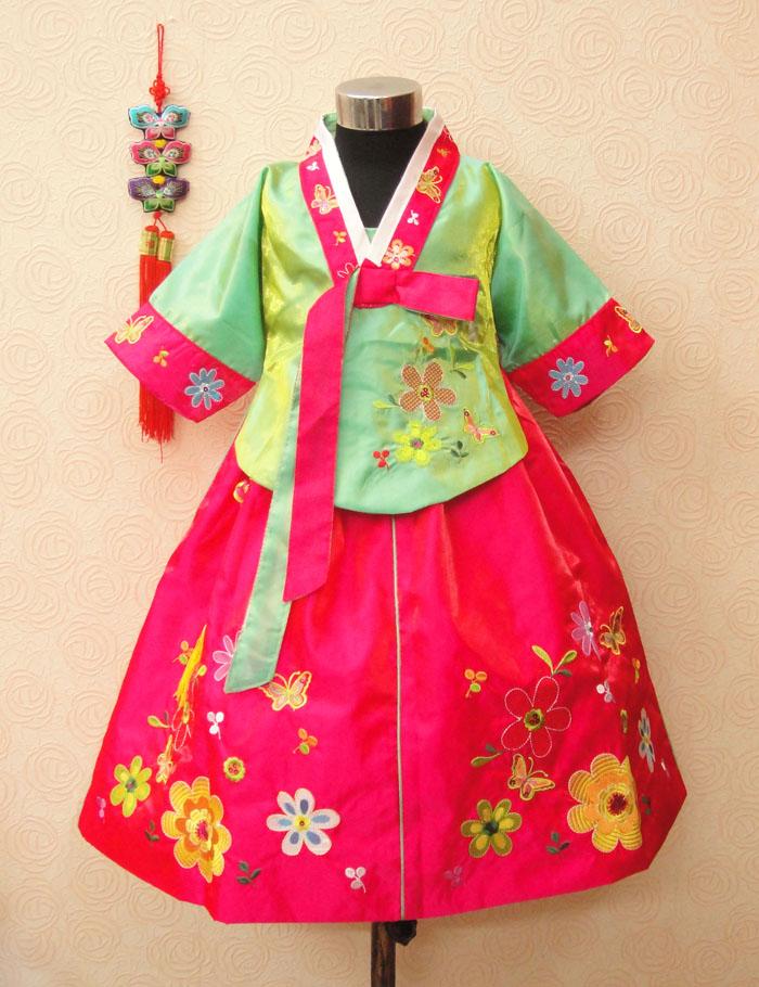 Trušu meiteņu hanbok bērnu apģērbu kleita pavasara un rudens - Bērnu apģērbi - Foto 5