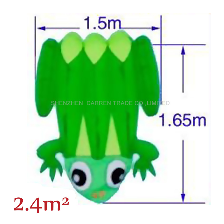 1PC High Quality Huge Blue/yellow back soft frog Kite Outdoor Sport Kites Easy to Fly green frog flying toy 2.4 square meters - 3