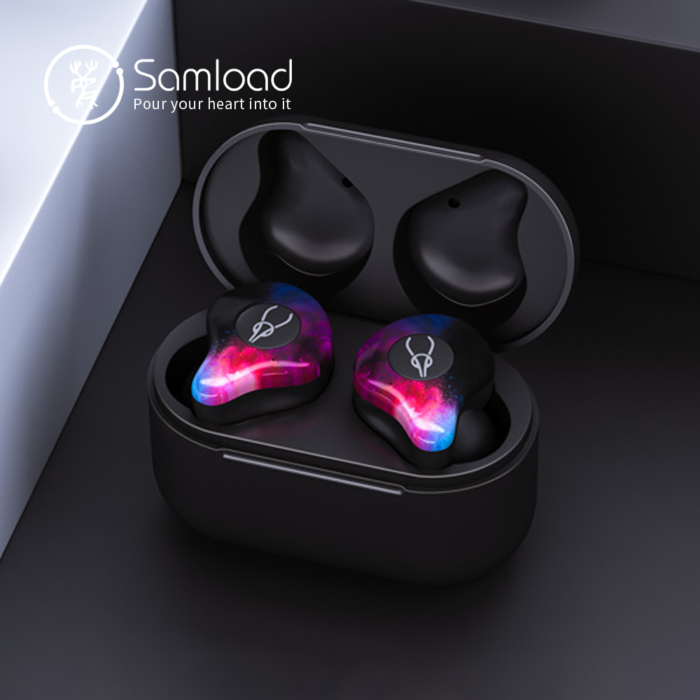 цена на Samload Bluetooth 5.0 Fashion Earphones Current Wireless Headphones Stereo Headset With Mic For Apple iPhone 7 8 Xiaomi Sony LG