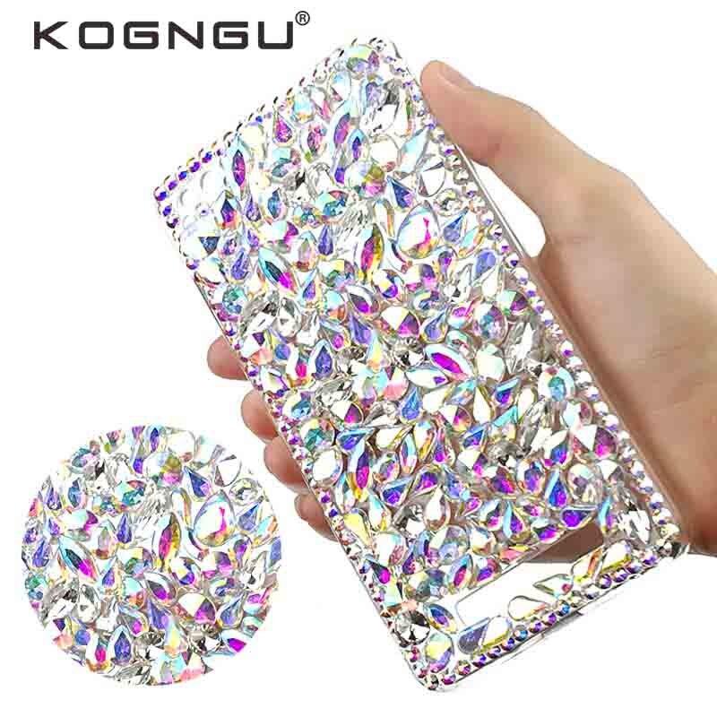Kogngu Luxury Crystal DIY Accessories for Xiaomi Redmi 4a Case Rhinestone Tpu Case for Xiaomi Redmi 4a Cell Phone Case Cover