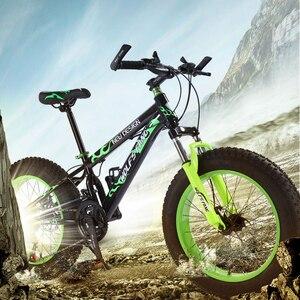 """Image 2 - Горный велосипед 21 скорость 2,0X4,0 """"дорожный велосипед жира велосипед спереди и сзади механические дисковые тормоза Для женщин и детские велосипеды"""