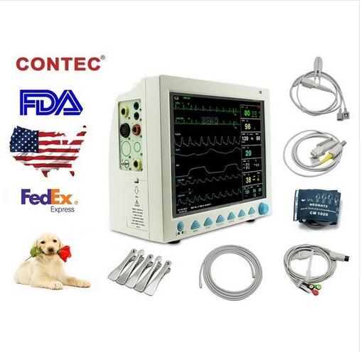 CMS8000 Patient Monitor 6 parameter Vital Sign ECG NIBP RESP TEMP SPO2 Pr english patient