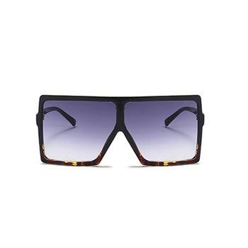 Luxury Brand Oversized Sun Glasses Ladies Square Sunglasses Women Fashion Designer Leopard Sunglass Oversize Sunglases Woman 1