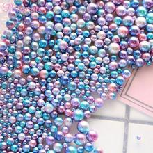 PATIMATE Round Imitation Pearl Gradient Magic Mermaid Colorful Party DIY Decorations Wedding Birthday Supplies