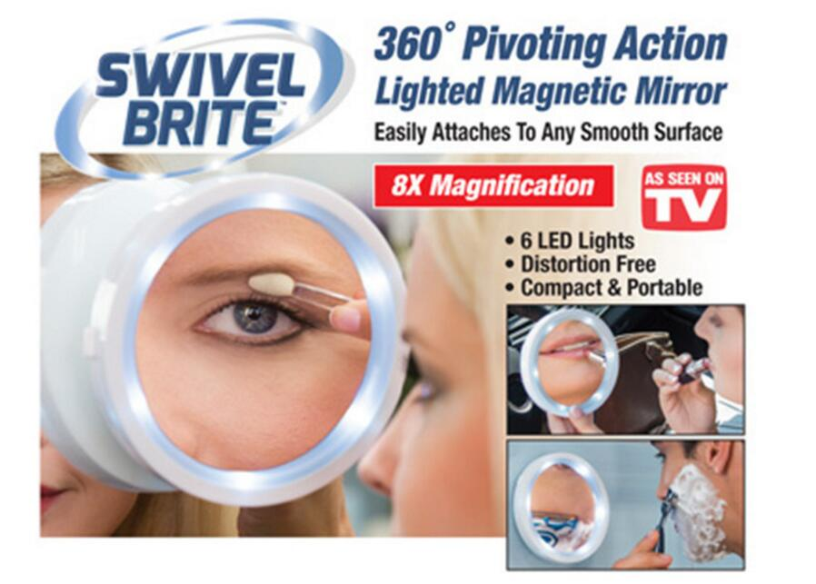 New 5X 7X magnifying glass magnifying glass lens makeup mirror with LED  lights make up mirror magnifying glass or plane mirror. 50x Magnifying Mirror Promotion Shop for Promotional 50x