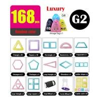168pcs Luxury Package Children Magnetic Building Blocks Toy Kids Favorite Macaron Color 3D Model DIY Lighter Thinner MAGPLAYER