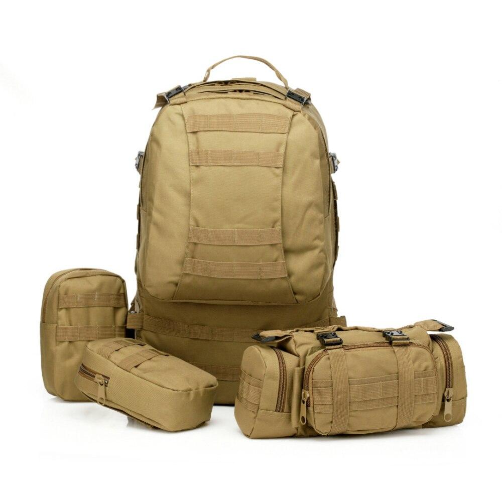 Grande capacité 50L Molle assaut tactique en plein air militaire sacs à dos sac de Camping sac 10 couleurs