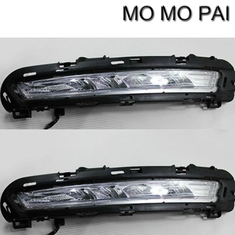 Car styling Fit for 2011-2013 Ford MONDEO 2x LED DRL Driving Daytime Running Day Fog Lamp Light for mondeo 2013 2016 led drl driving daytime running day light waterproof fog lamp light cover car accesories