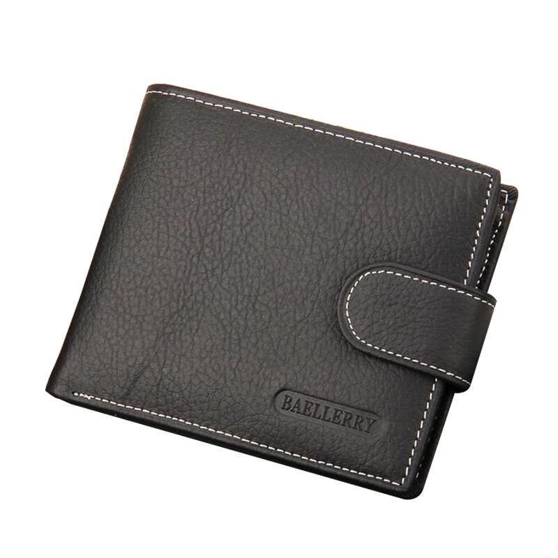 Brieftasche Männer Brieftaschen Aus Echtem Leder Geldbörse Luxus Designer Männer Geldbörse Kartenhalter Bifold Kurz Clutch Münzfach Brieftaschen