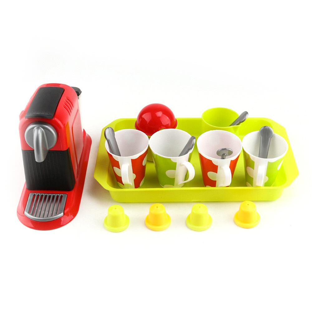 Children's Tableware Mini Cute Coffee Machine Afternoon Tea Pretend Toy Play House Set Kitchen Toys For Children Christmas Gift