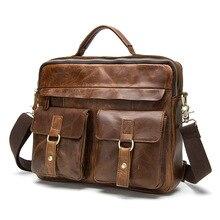 Брендовая мужская сумка из натуральной кожи, сумки через плечо, повседневные мужские портфели, сумки для ноутбука, мужские сумки через плечо, сумки для путешествий