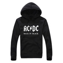 2017 autumn and winter Hoodies men's clothing men print acdc Graphic pullover sweatshirt Hip Hop men Hoodies size M L XL XXL