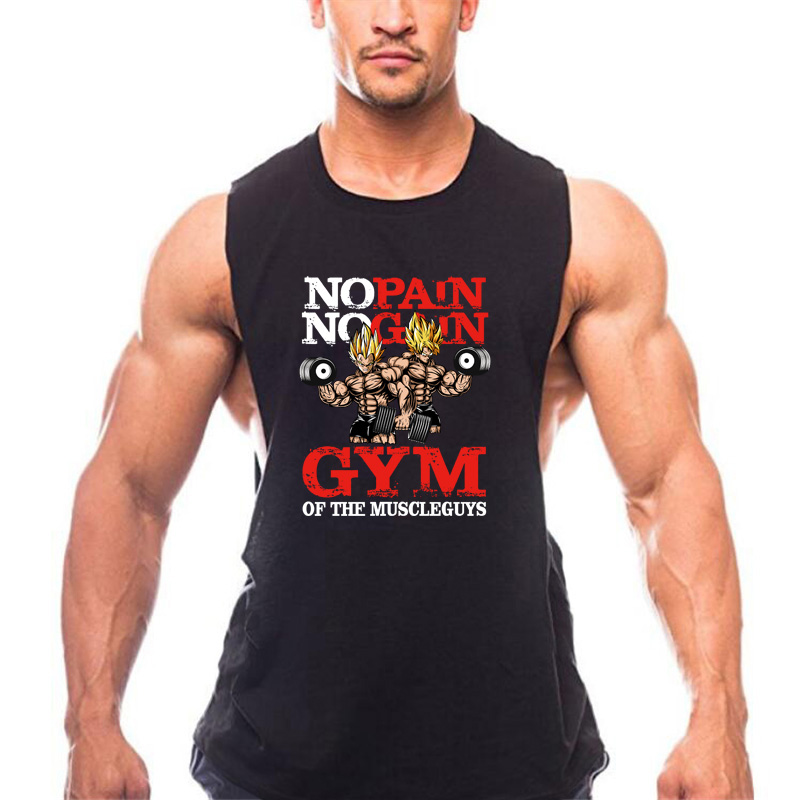 New Brand clothing Bodybuilding Fitness Men gyms   Tank     Top   Vest NO PAIN NO GAIN COTTON Stringer sportswear sleeveless shirt