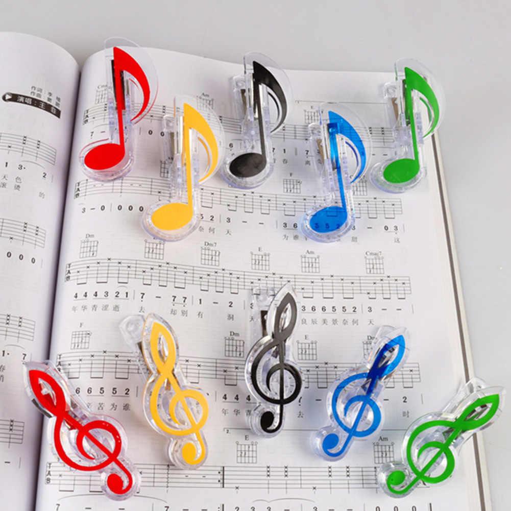 1Pcs Nota Musicale Pinze di Musica per Pianoforte di Pagina del Libro Pinze Kawaii Cartella Clip Treble Clef Clip