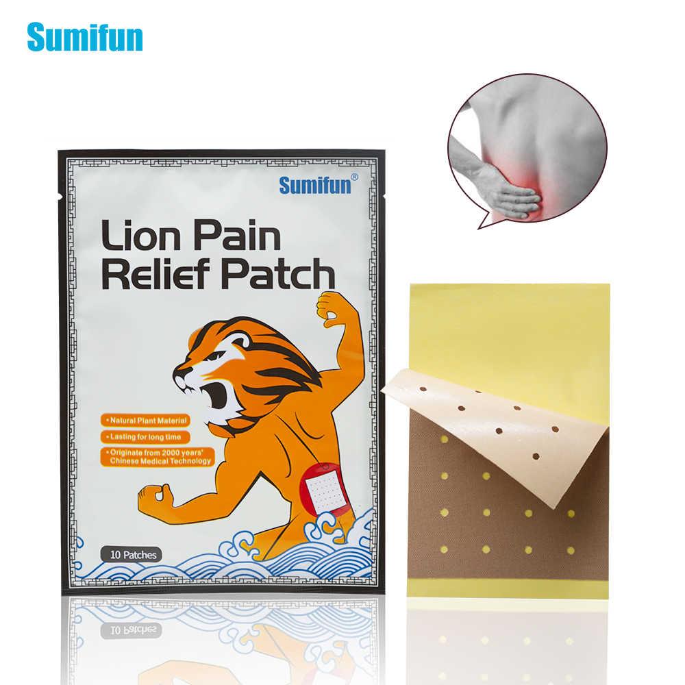 Sumifun 40Pcs = 4 sacchetti di Leone Gesso Medica Balsamo Per Le Labbra Patch di Crema Meridiani Lo Stress Sollievo Dal Dolore di Artrite Capsicum Gesso D1261