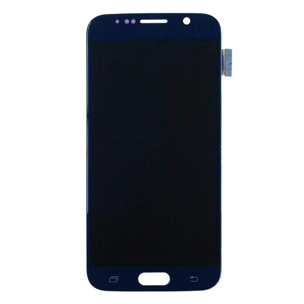 Для Samsung Galaxy S6 G920 G920A G920I G920T G920F G9200 LCD мобильный телефон Сенсорный экран планшета Ассамблеи заменяемой