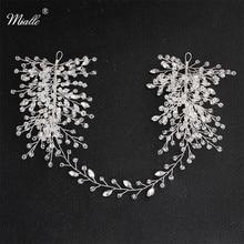 Miallo Fashion Rhinestones Wedding Headband Princess Crown Bridal Hair Accessories Women Jewelry Headpieces