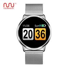 NEWWEAR Q8 Смарт-часы OLED Цвет Экран Smartwatch Мужская мода Фитнес трекер сердечного ритма