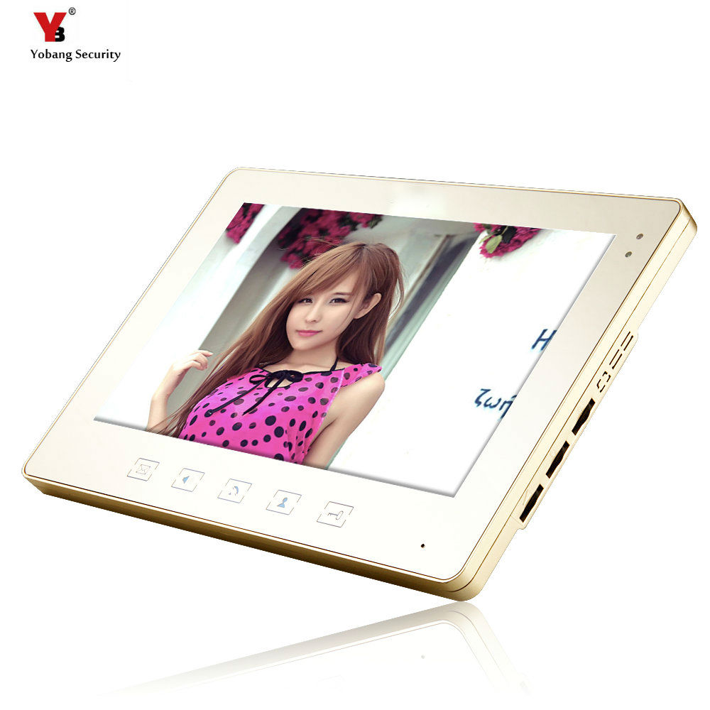 Yobang Security freeship 10-inch Monitor for video doorphone doorbell only indoor machine for door intercom цена